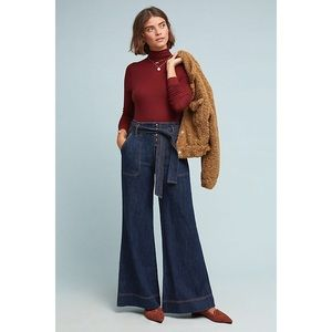 Pilcro Ultra High-Rise Wide Leg Jeans 28 Petite